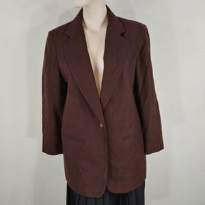 requirements womens new wool blazer brown size 8
